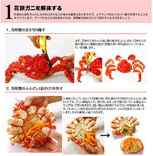 花咲ガニの食べ方