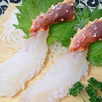 タラバガニの基本の食べ方~タラバガニのお刺身
